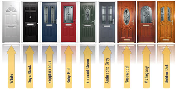 Composite doors 2 colours